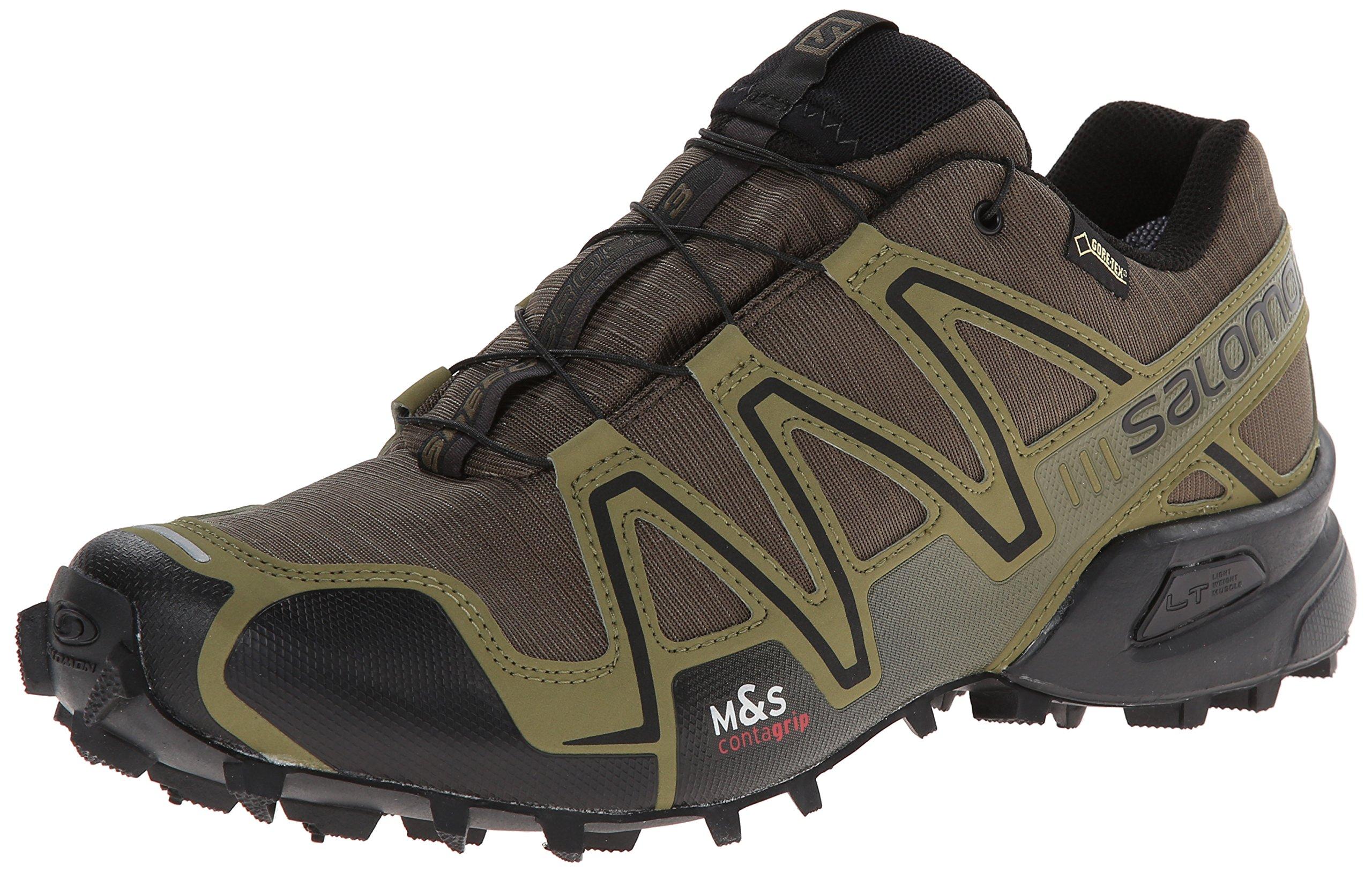 Galleon - Salomon Men's Speedcross 3 GTX Running Trail Shoe, Dark Khaki/Black/Iguana Green, 10 M US