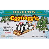Bigelow Eggnogg'n Tea 20 count Boxes (Pack of 6) Caffeinated Individual Black Tea Bags, for Hot Tea or Iced Tea, Drink Plain or Sweetened with Honey or Sugar