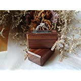 OysterBox Handmade Wooden Ring Box (Color: Brown)