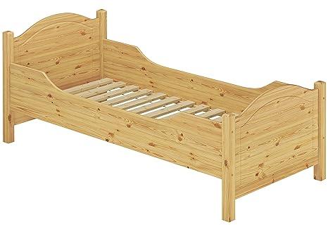 Erst-Holz 60.40-12 Seniorenbett extra hoch - mit Rollrost - 120x200 - Massivholz Natur