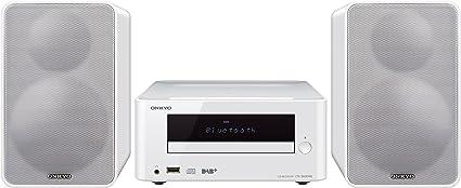 Onkyo CS-265DAB Chaîne HiFi compacte avec lecteur CD, MP3 et USB compatible Apple iPod/iPhone/iPad, NFC, Bluetooth, RDS Avec tuner DAB+ blanc
