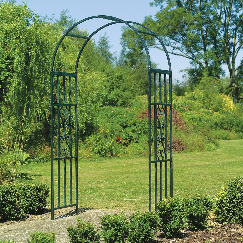 Садовые арки из металла своими руками фото