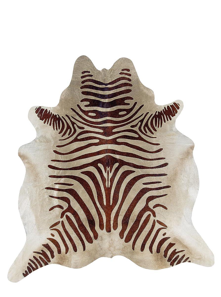 Cowhide Handcrafted Stencil Full Skin Rug