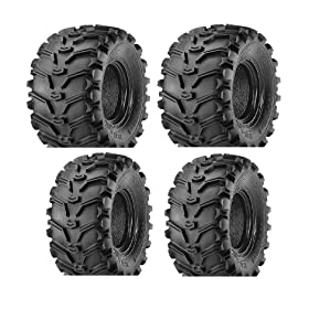 set of 4 atv tires - 2 FRONT 25-8-12 and 2 REAR 25-10-12 ATV Kenda Bearclaw TIRES