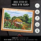 House in The Village - Counted Cross Stitch Kit, 14-Count Aida Cloth, 13