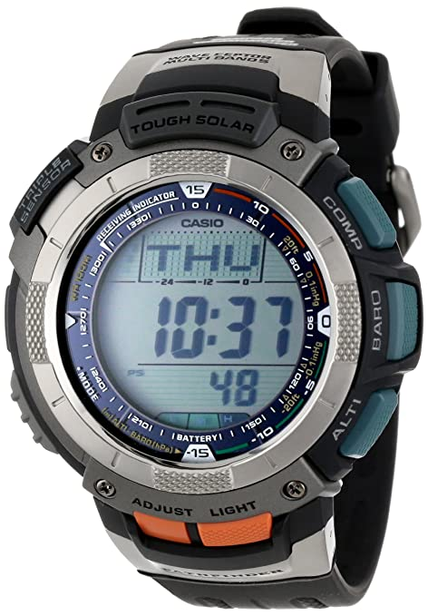 Casio Men's PAW1100-1V Pathfinder Atomic Solar Watch 卡西欧 Pathfinder 探路者 PAW1100-1V 男士腕表(五局电波、太阳能充电-奢品汇 | 海淘手表 | 腕表资讯