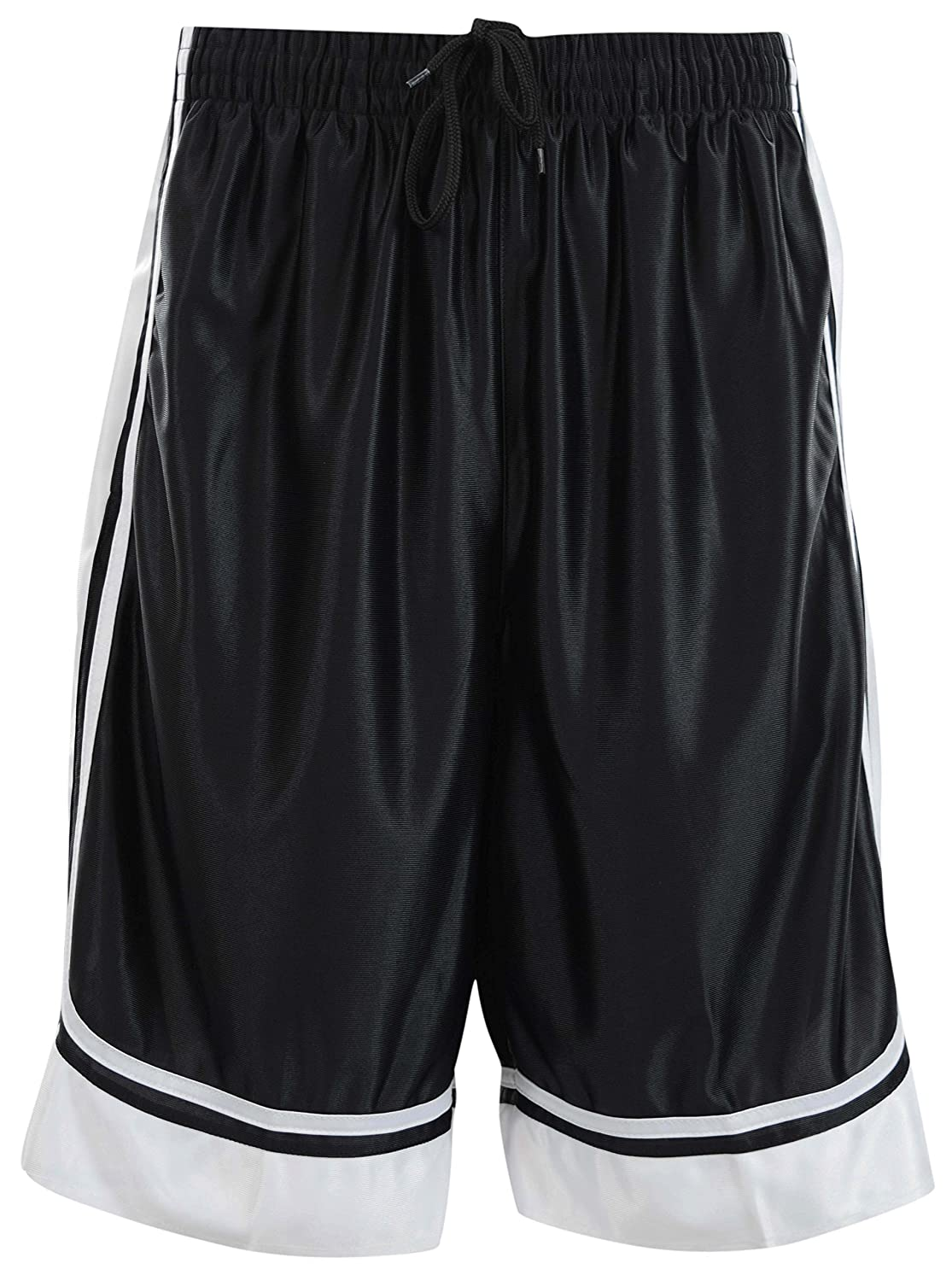 Mens Two Tone Training/Basketball Shorts with Pockets (S up to 4XL)