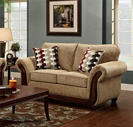 Chelsea Home Furniture Courtney Loveseat, Radar Havana
