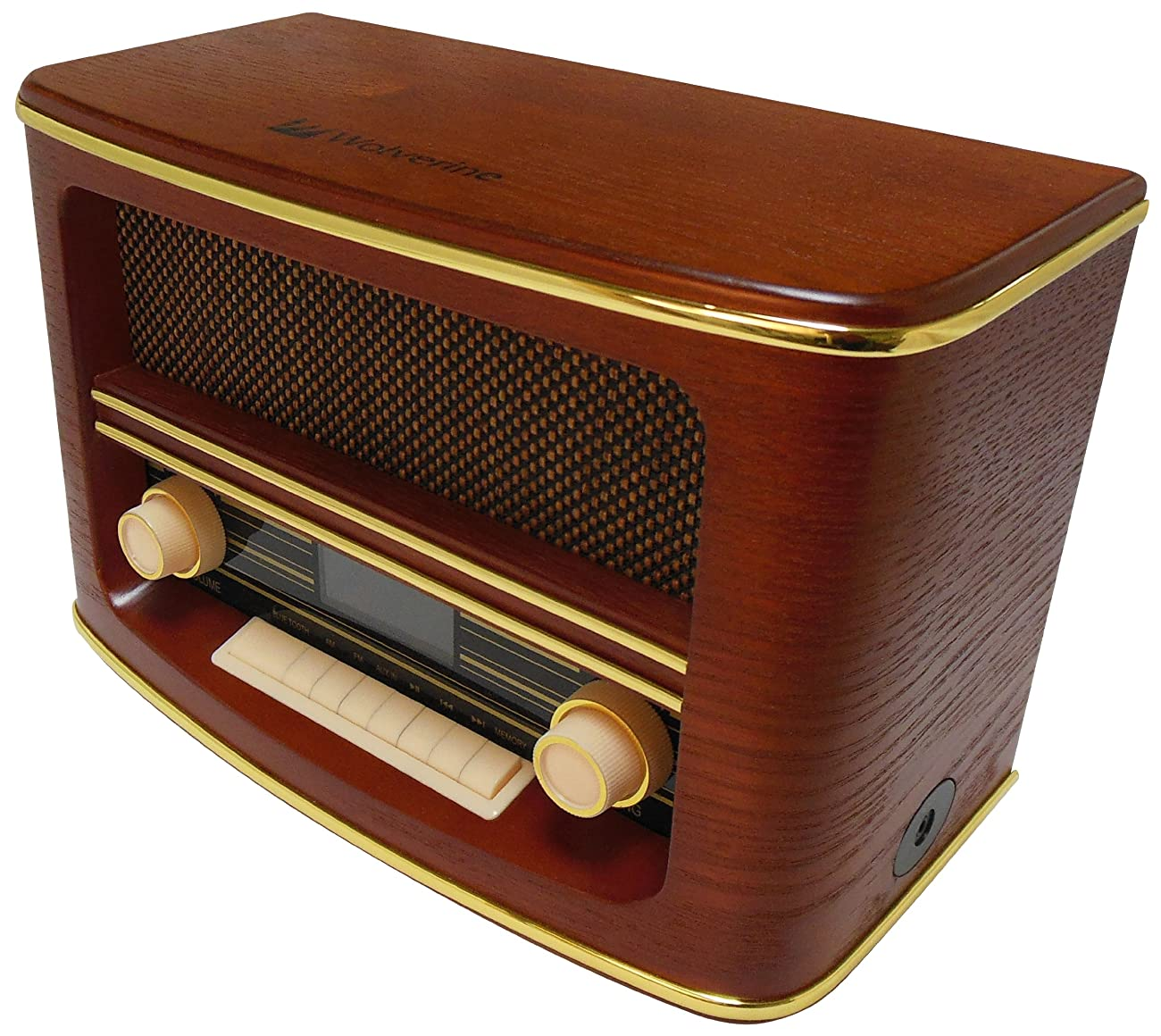 Wolverine RSR100 Retro Table Top Bluetooth Speaker and AM/FM Radio 1