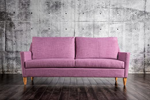 Furniture of America Kimmon Mid Century Sofa, Purple