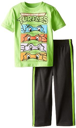 Nickelodeon Little Boys' Toddler Ninja Turtles Tricot Pant