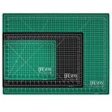 Breman Precision Self Healing Cutting Mats 9x12 12x18 and 18x24 Inches - 3 Pack I Sewing Scrapbooking Quilting Fabric Rotary Cutting Mats I 2-Sided 5-Ply PVC Craft Mats with Grid Lines I Black/Green (Color: pink, Tamaño: A4(12X9)/A3(18X12)/A2(24X18) Inches)