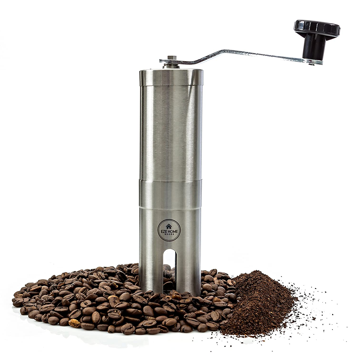 Most Consistent Hand Coffee Grinder & Coffee Press - Ceramic Burr Manual Coffee Grinder fits in Aeropress