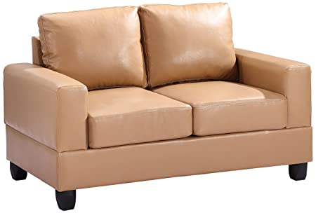 Glory Furniture G301A-L Living Room Love Seat, Tan