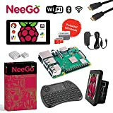 "Raspberry Pi 3 B+ (B Plus) Ultimate Kit – Complete Set Includes Raspberry pi Motherboard, 7"" Touchscreen Display, Power Supply, 32GB SD Card, 2 Heatsinks, Official Case & 6ft HDMI Cable & Keyboard"