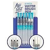 Water Brush Pen - Nylon-Hair - Assorted-Tips - Set of 6