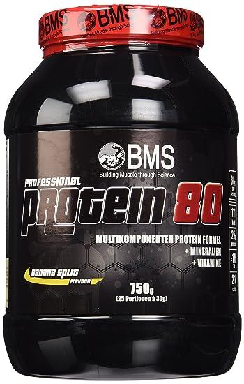 BMS Professional Protein 80 Banane, 1er Pack (1 x 750 g)