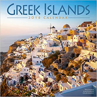 Greek Islands Calendar - 2016 Wall Calendars - Photo Calendar - Monthly Wall Calendar by Avonside