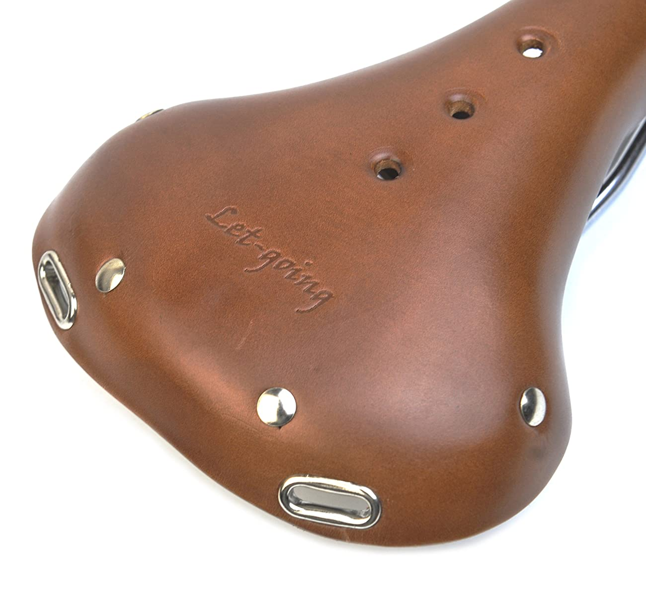 England Vintage Cycling Fixie Road Bike Turbo Brown Seat Saddle Pure Leather 4