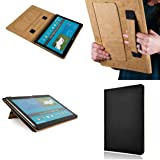 Black Samsung Galaxy Note Pro 12.1 Inches Tab Pro Tablet Slim Folding Leather Cover Case with Sleep Mode