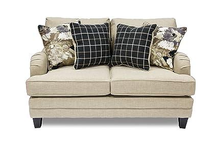 Furniture of America Candara Contemporary Love Seat, Ivory