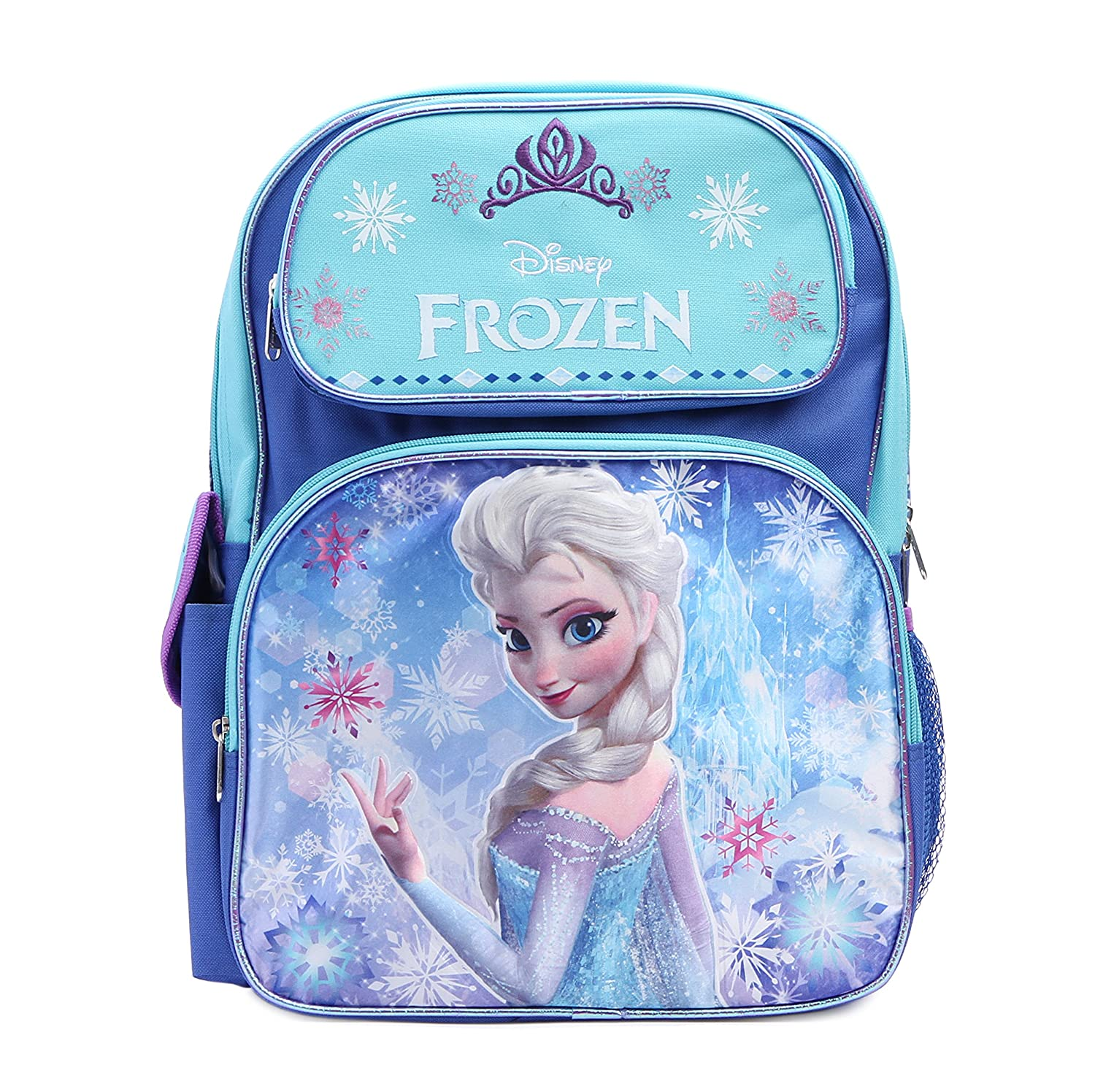 Disney Frozen Princess Elsa Sparkle Backpack, Large 16 School Bag