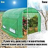 BenefitUSA Large Walk in Outdoor Plant Gardening (10'x7'x6') Greenhouse