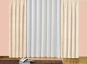 iovivo Thermo Chenille Vorhang Sonja unifarben, 235 g/qm Einzel Gardinenschal, beige, 225X175    Überprüfung und weitere Informationen