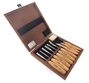 Narex 9 Piece Set Carving Chisels with 3 Knives and 6 Carving Chisels in Wooden Presentation Box 894813