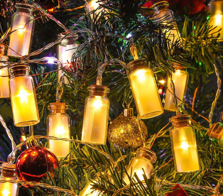 Glass Jar String Lights : LED String Lights,Oak Leaf 9.8 ft 30 LEDs Vintage Clear Glass Jar LED Fairy eBay