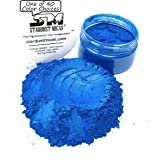 Blue Pigment Powder for Resin, Wood Inlay Powder, Metallic Blue Color for Soap Making, Bold Pigment Colors for Resin, Stable Mica Batch Consistency Stardust Micas Blue (Tropical Blue, 36 Gram Jar) (Color: Tropical Blue, Tamaño: 36 Gram Jar)