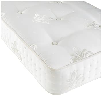 Hyder Living 2000 Pocket Mattress in Traditionally Hand Tufted and Simulated Side Stitching, 3 ft, White