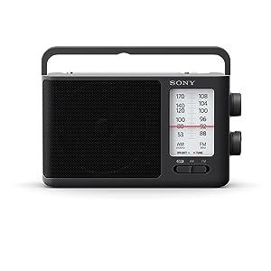 Sony ICF-506 Analog Tuning Portable FM/AM Radio (Color: Black, Tamaño: 2.14 lbs)