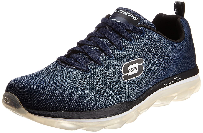 Men's Skech Air Game Changer Navy and Black Mesh Multisport Training Shoes - 7 UK/India (41 EU) (8 US)