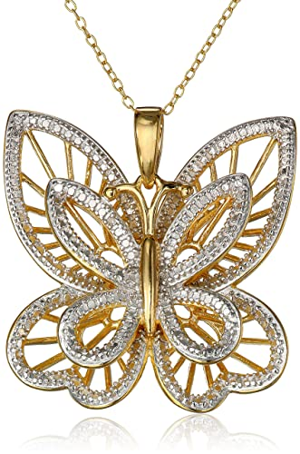 Yellow-Gold-Plated-and-Diamond-Accented-Butterfly-Pendant-Necklace-18-