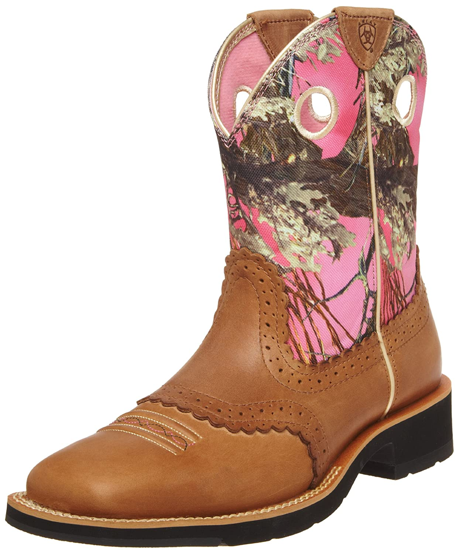 Women s atiat fatboy pink camo boots