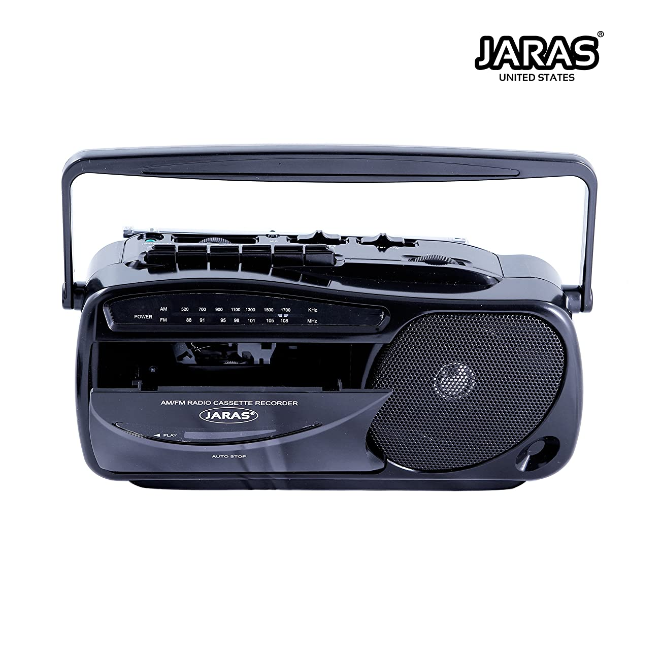 Jaras JJ-2618 Limited Edition Portable Boombox Tape Cassette Player/recorder with AM/FM Radio Stereo Speakers & Headphone Jack 2