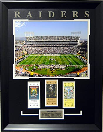 Amazon.com : Oakland Raiders Super Bowl Tickets Framed Collage ...