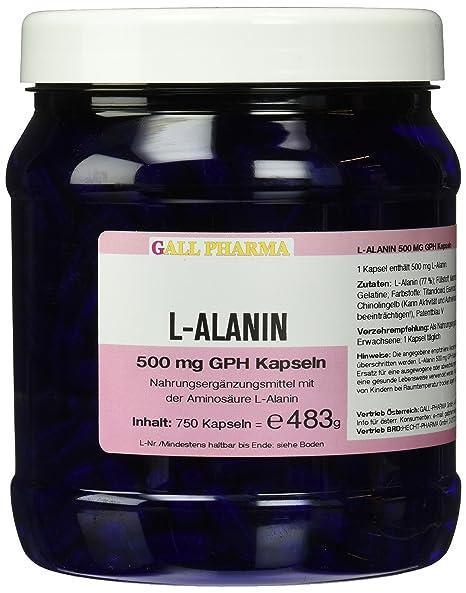 Gall Pharma L-Alanin 500 mg GPH Kapseln 750 Stuck