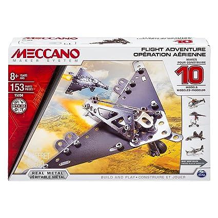 Meccano - 6026717 - Jeu de Construction - Opération Aérienne 10 Modèles