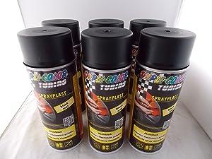 Dupli Color Sprayplast Abziehlack Sprühfolie schwarz matt 388033 6x400ml Spraydosen insgesamt 2400ml  AutoKundenbewertung und Beschreibung
