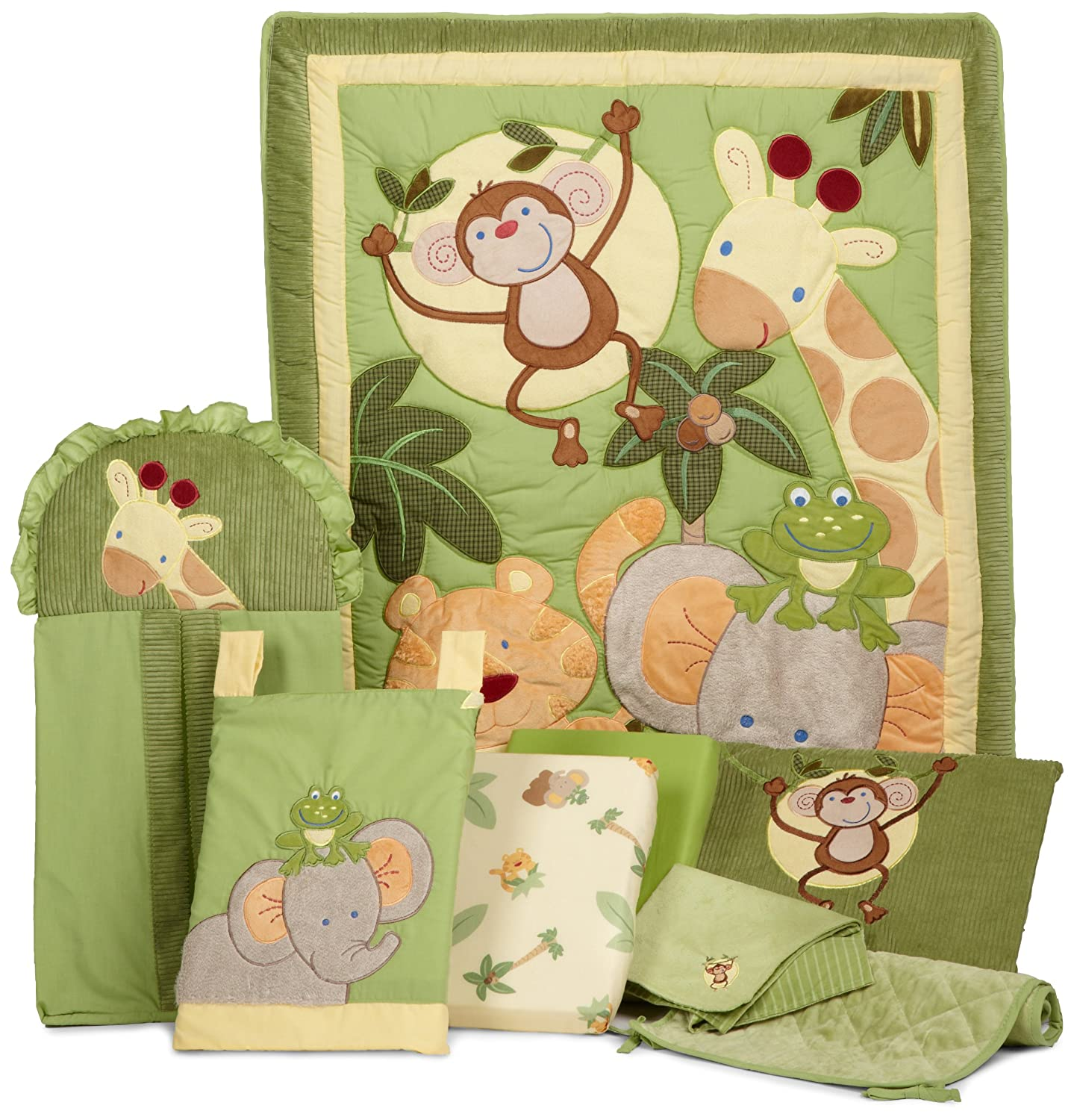 Nojo Jungle Babies Crib Bedding and Decor