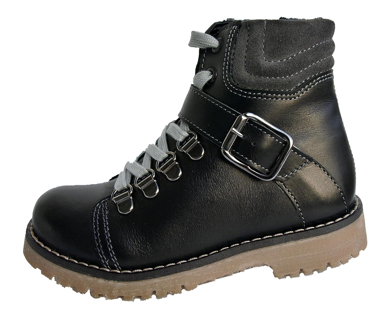 Jungen-Winterschuhe-Schuhe-Stiefel-Boots-echt Leder mit warmem Kunstfell.Hochwertige und feste Winterschuhe in Premiumqualität online bestellen