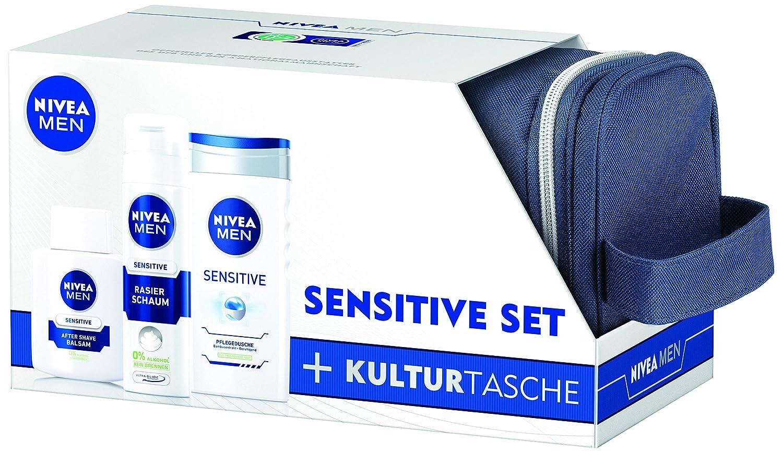 Nivea Men Geschenkset sensitive 2014   gratis Kulturtasche