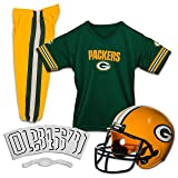 Franklin Sports NFL Green Bay Packers Deluxe Youth Uniform Set, Small (Color: Green Bay Packers, Tamaño: Small)
