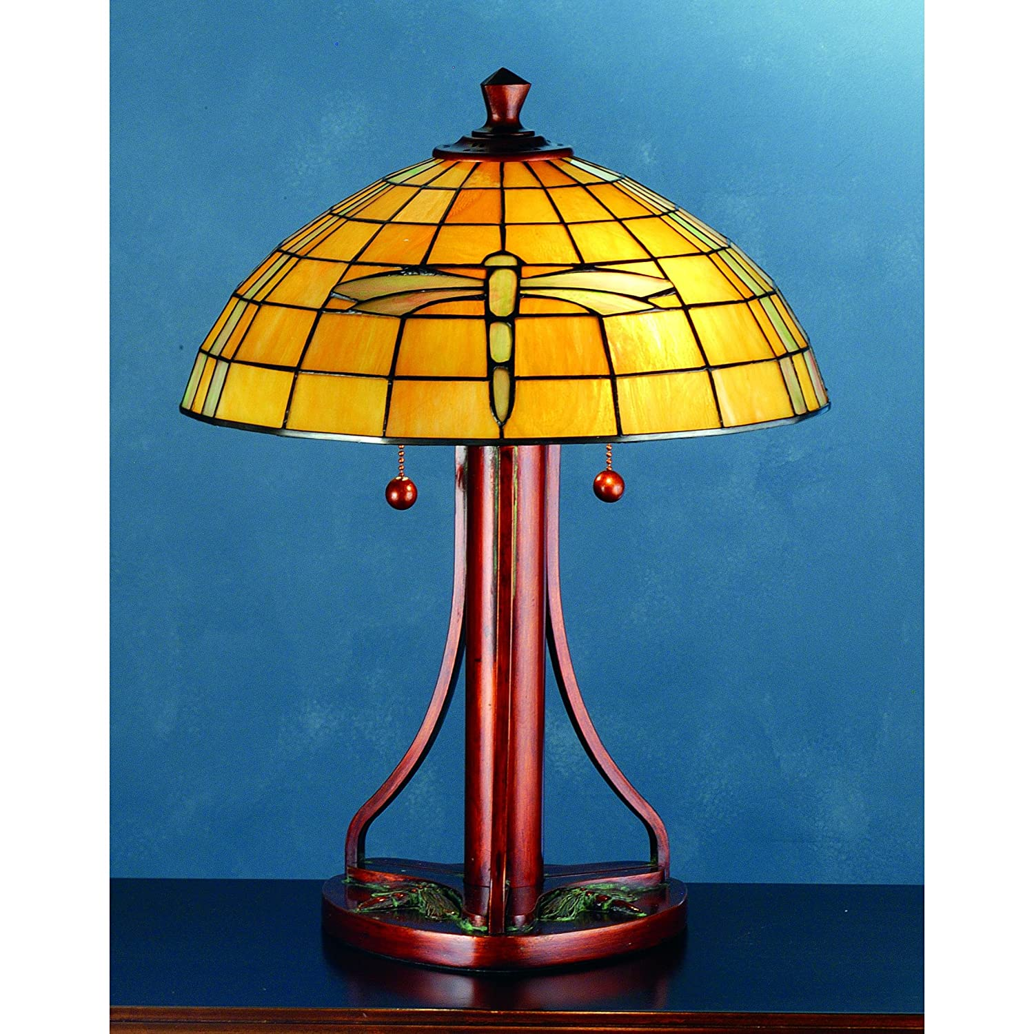 22 Quot H Arts And Crafts Dragonfly Table Lamp Guide Pyramex