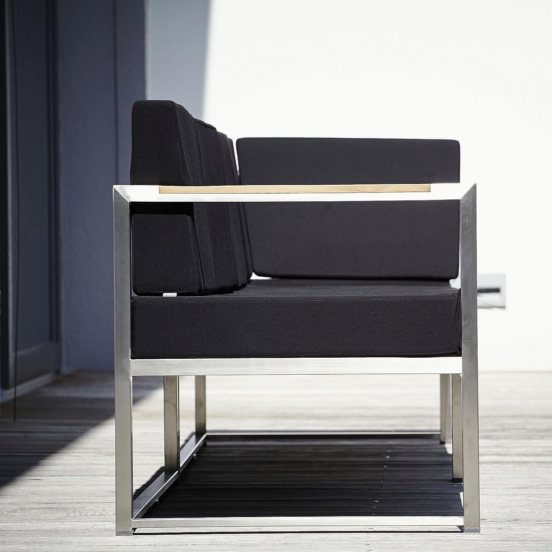 Lux Lounge Eckelement schwarz 67 x 67 cm, h 62 cm günstig kaufen