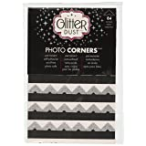 Therm O Web Glitter Photo Corners, Silver