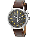 Timex Unisex TW2P92300 Metropolitan+ Dark Brown Stitched Leather Strap Watch (Color: Dark Brown/Gray, Tamaño: One Size)