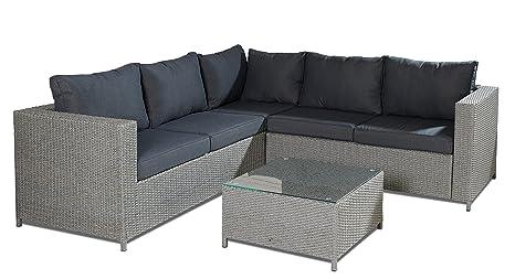 Alta calidad artlive 3piezas incluye cojín Luxus Jardín-Conjunto de muebles de jardín (estructura de acero, ratán Asiento Grupo Muebles Asiento Grupo de conjunto de asiento de sofá Lounge Jardín